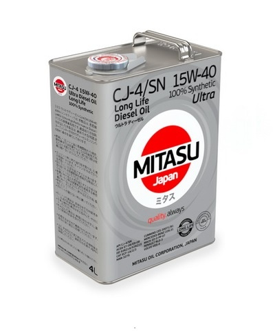 Japoński olej: MJ-214 MITASU ULTRA DIESEL CJ-4/SN 15W-40 100% Synthetic