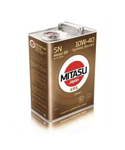 Japoński olej: MJ-122A MITASU MOTOR OIL SN 10W-40 Synthetic Blended