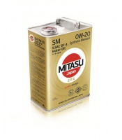 Japoński olej: MJ-123 MITASU MOTOR OIL SM 0W-20 ILSAC GF-4 Synthetic Blended